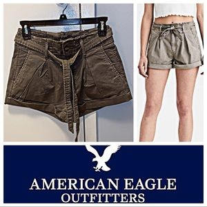 NWOT - AMERICAN EAGLE Paperbag Tie Shorts - SIZE 0